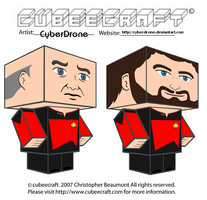 Cubeecraft - Captain Picard and Commander Riker by CyberDrone