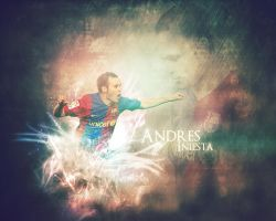Andres Iniesta by Ghostyfair
