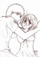 Bleach-IchiRuki sketch by TaPDarkZy39