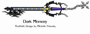 Dark Memory keyblade by ShiningamiMaxwell