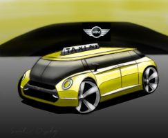 Mini NYC Taxi rendering 1 by dyrborgdesign