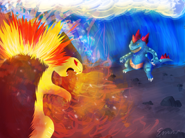 Typhlosion vs Feraligatr