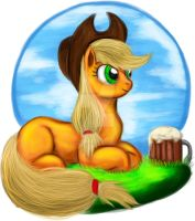Applejack portrait by Exelzior-Maximus
