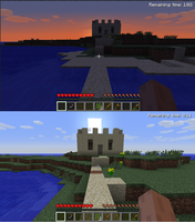 Minecraft Sandcastle Screenshots by MidnightTheUmbreon