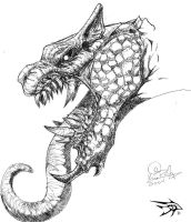 Sketch Series - Dragon 7 by darthhorus