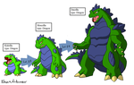 Fakemon: Giant Monsters remake by Brian12