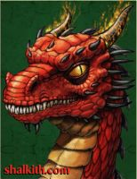 Red Dragon Three-Young Serpent by VegasMike