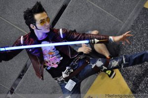 Acen: No More Heroes Travis Touchdown Cosplay by MikeFertig