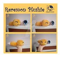 Reremon plush (real size) by WolfPink