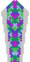 titanium scale tail pattern by DracoLoricatus