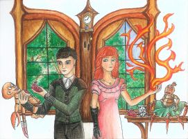 Peculiar! ~ Enoch and Olive ~ Tim Burtons MPHfPC by FeanorFeuergeist