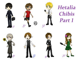 Hetalia Chibi Set pt 1 by SiriEx