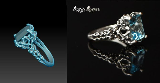 3d Design Ring Zbrush by Ozziaqueen