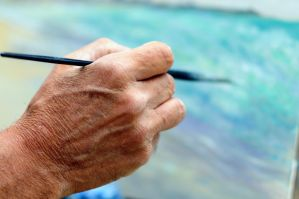 Biagio's hand painting the world's beautiness... by pixelmadness