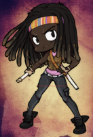 The Walking Dead chibi: Michonne by neoanimegirl