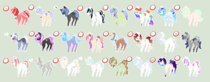 24 Pony Adoptable Sheet (1) 1/24 left by StarDust-Adoptables