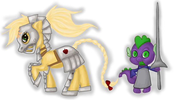 My Little Adventurers: The Paladin (and squire) by Eleke