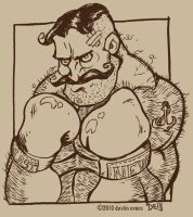 Video live drawing boxer dude by DustinEvans