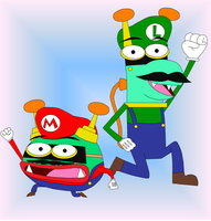 Buzz and Delete as the Mario Brothers by CleverKid96