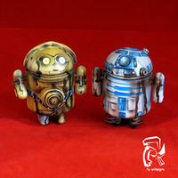 R2D2 and C3PO Androids by FullerDesigns