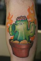 Plants Vs Zombies Cactus by Lucky-Cat-Tattoo
