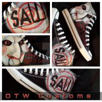 Saw Billy Puppet Converse by VeryBadThing