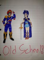 Captain Falcon and Prince Marth Lowell Old School by airbornewife71