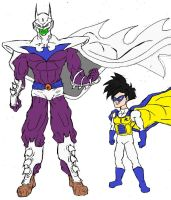 Piccolo and Gohan as Batman and Robin Alt Color by Axel-Knight