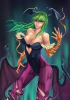 Morrigan Aensland by Ziggafee
