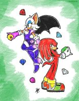 Rouge and Knuckles by BlackBy