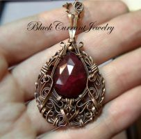 Ruby and Copper nicely together by blackcurrantjewelry