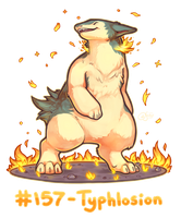 Pokemon #157 - Typhlosion by oddsocket