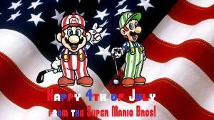 Super Mario Bros - 4th of July wallpaper by MarioandSonic999