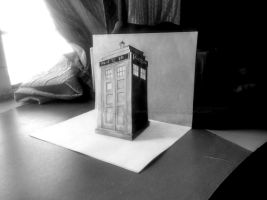 Tardis - Dr. Who (3D Drawing Commission) by AnkitDArt