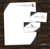Letterhead and business card for client by ison