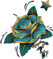 Blue Rose by artbeautifulcloth