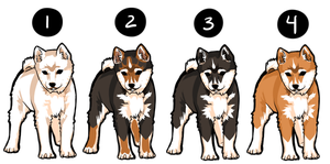 Shiba Adoptable Batch 1 - SOLD by Azraetine