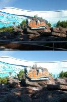 EPCOT: the Seas sign by wilterdrose-stock