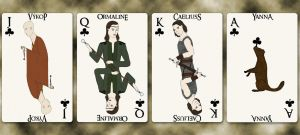 School Group III cards - Clubs by Squirrel-slayer