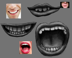 Mouth Speedpainting Practice by Jizzy342