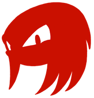 Knuckles Head Silhouette by SamSonic