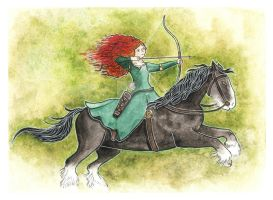 Merida and Angus by Bumble-a-Bee