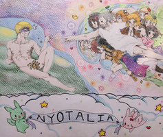 The Creation Of A Harem- Colored by pastelXpalette