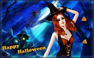 Sims 3 Happy Halloween by XBloodyDollX