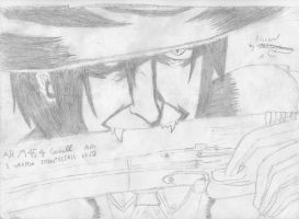 Alucard with a gun by MageBunnyTheGreat
