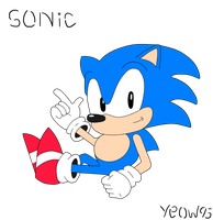Classic Sonic - SSMB Avatar Commission by Yeow95