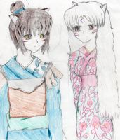 Sesshomaru and Rin's Children by HybridCatgirl995