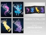 Postcards ANIMALS IN SPACE by 42Spectre