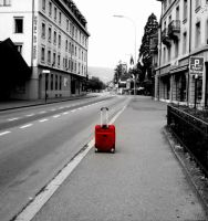 The Lonely Suitcase. by fragilesilence