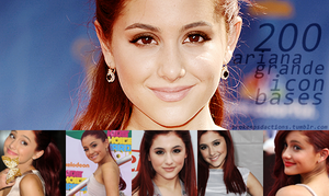 200 icon bases with Ariana Grande by SydneyWells